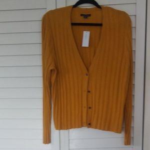 American Eagle Yellow Cardigan